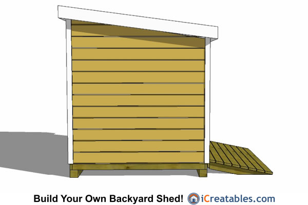 8x8 lean to shed plans rear view