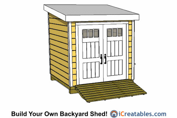 8x8 lean to shed
