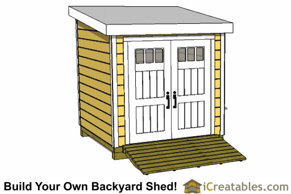 8x8 lean to shed plans front