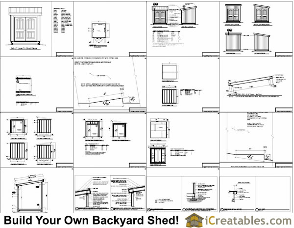 8x8 lean to shed plans storage shed plans for Shed plans and material list free