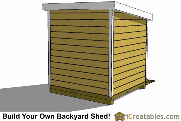 8x8 lean to shed plans storage shed plans for Lean to storage shed