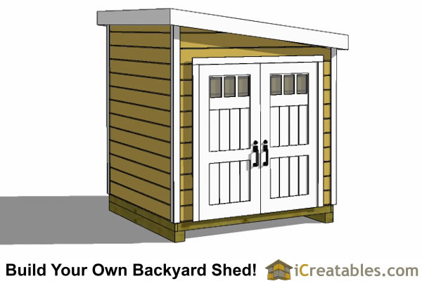8x12 lean to shed left