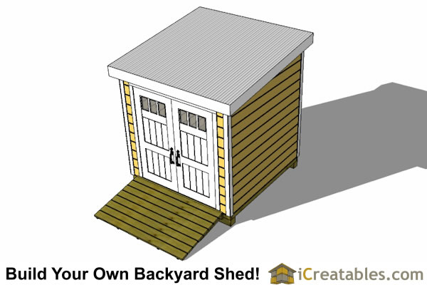 8x12 lean to shed top