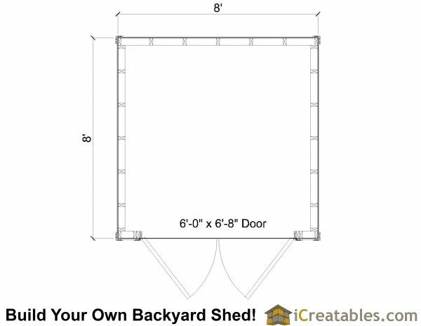 8x8 lean to shed floor plan