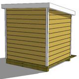 8x12 lean to shed rear
