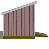 free shed plans side view
