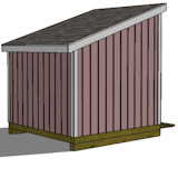 free shed plans rear view