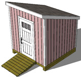 Free Building plans for a 8'x 8' lean to storage shed for your yard or