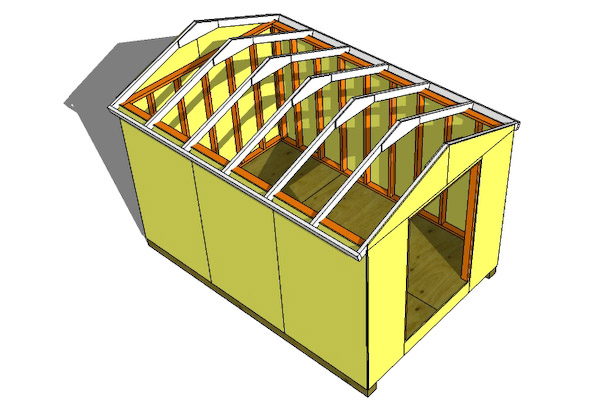Online shed design tool how to install shed roof trusses for Online roof design tool