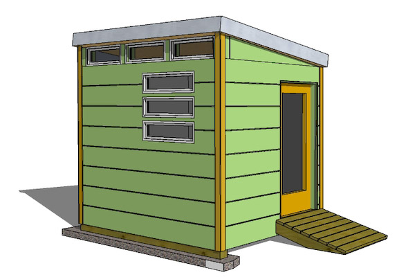 How to turn a shed into a office, or build a shed office from scratch.