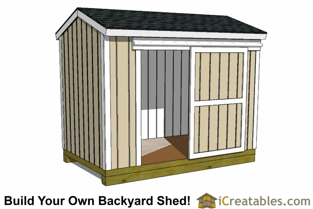 garden shed plan with large doors