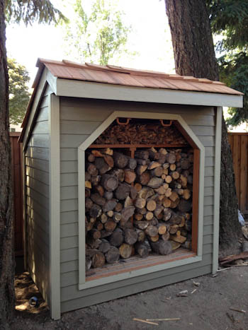 4x8 Firewood shed side view