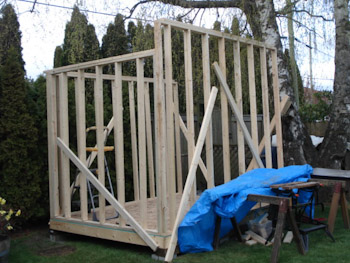 8x10 lean to shed building 3