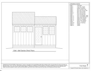 shed plans front elevation sheet