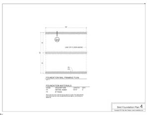 shed plans foundation plans