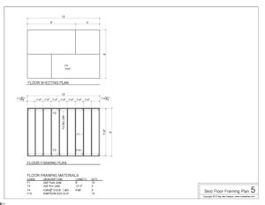 shed plans floor framing plans