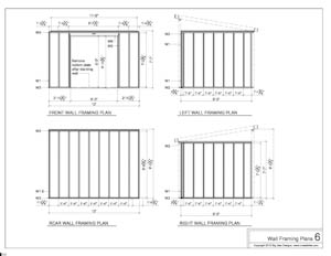 shed plans wall framing plans