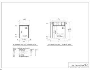 shed plans wall framing