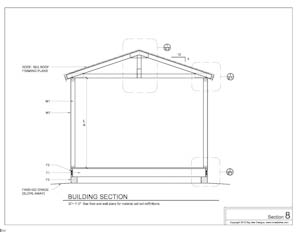 shed plans building section