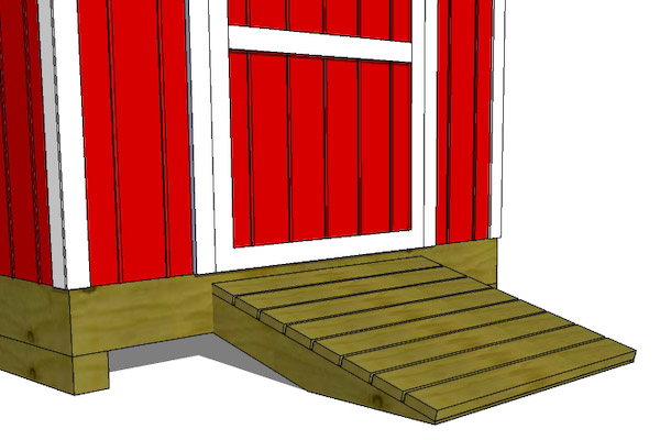 How To Build A Shed Ramp | Shed Ramp | icreatables.com