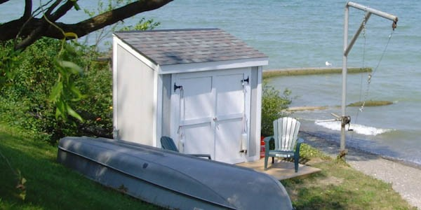 Lean To Boat House Storage