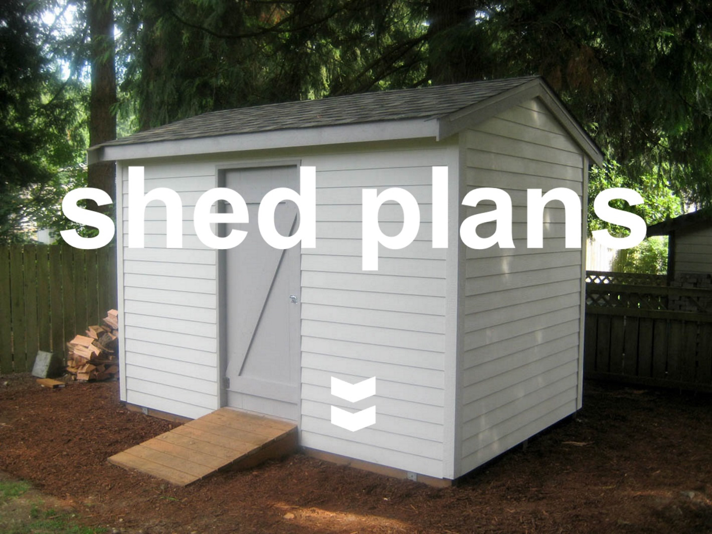 Shed plans for your garden