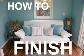 how to finish a shed