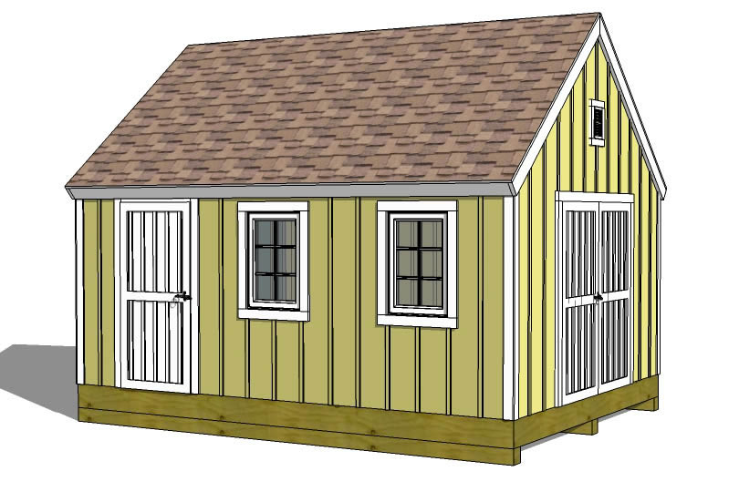Shed Plans How To Build A Shed Storage Building Plans