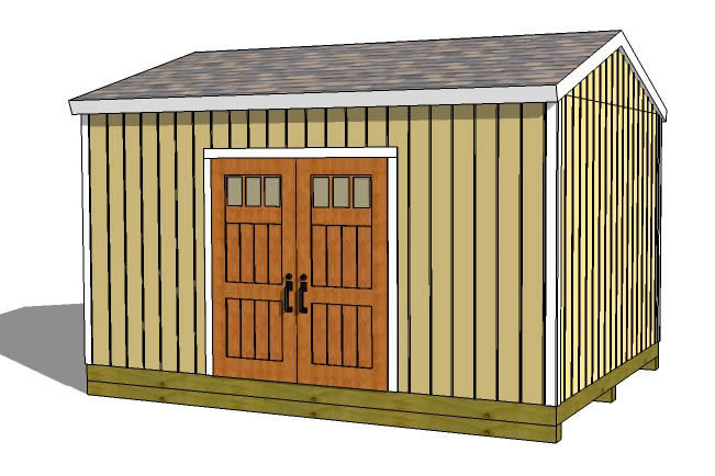12x16 shed plans gable