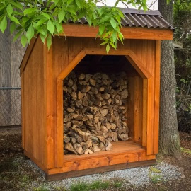 firewood shed build