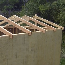 how to build a shed rafters