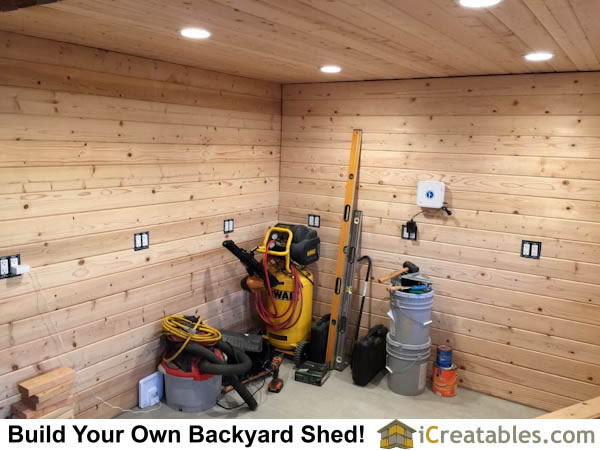 install electrical in backyard shed