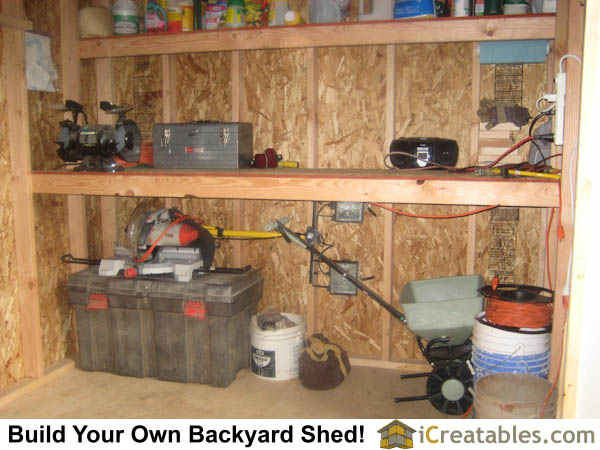 shed plan storage in roof rafters