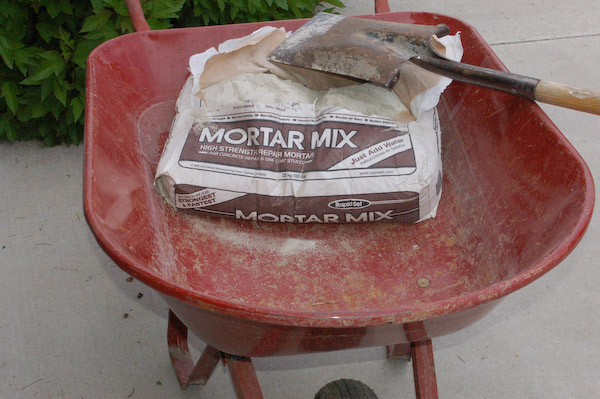shower pan mortar mix