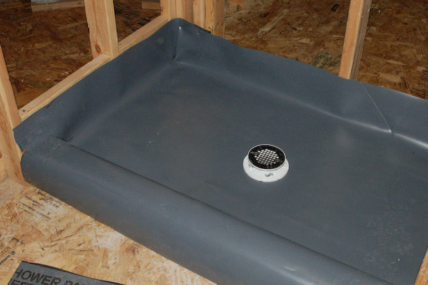 shower pan pvc liner complete