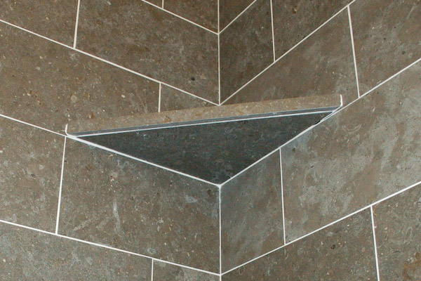 tile shelf from below